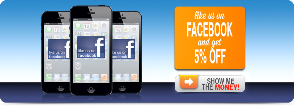 Like Us On Facebook And Get 5% Off