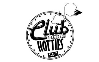 Club Scene Hotties Clean Logo Design
